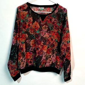ONLY Sheer Floral Top